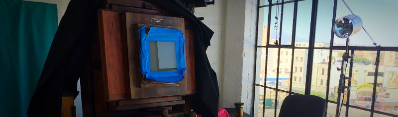 Jeff Kober's wet plate camera, Los Angeles