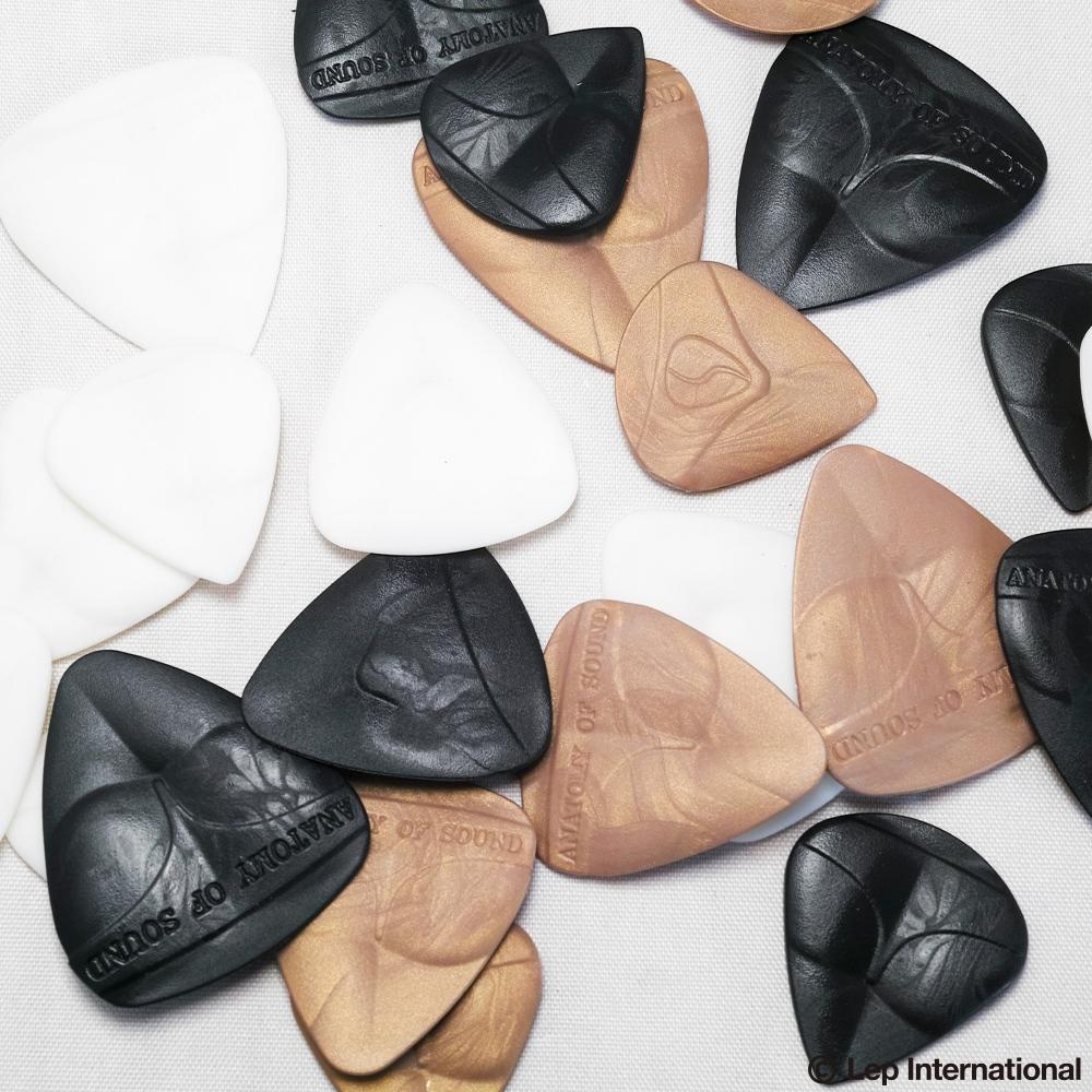 6 Pack Rigid Anatomy of Sound 3D Guitar Picks