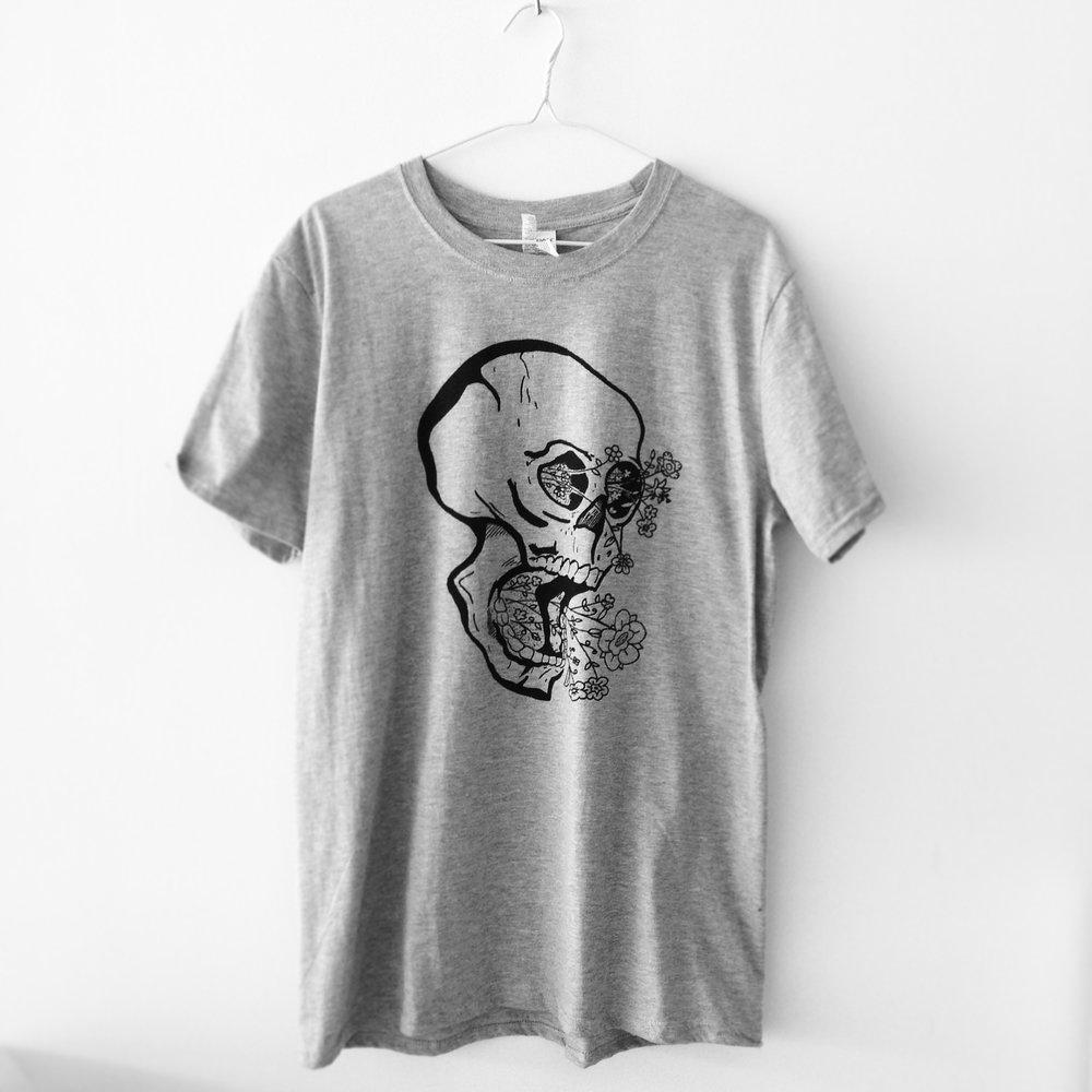 Phoebe's art on a t-shirt.