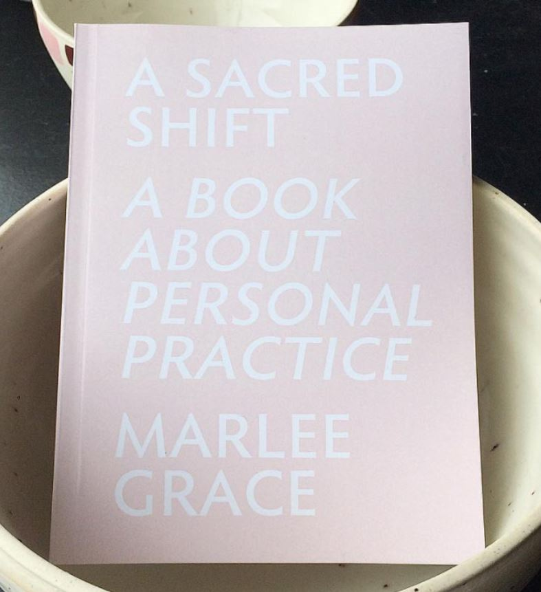 Artist  Marlee Grace  wrote  this beauty of a book  to record 'every single feeling, song, place, person, shift that happened beginning june 2 1988 to present.'($20 at Likely General)
