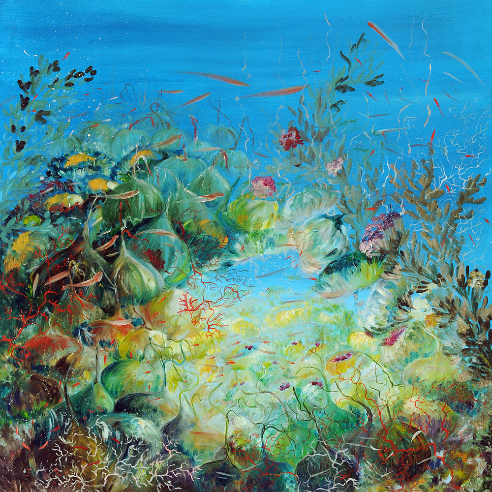 Ocean Blooming IV . The Ocean Collection . 2012. Oil on canvas. 90 x 90 cm