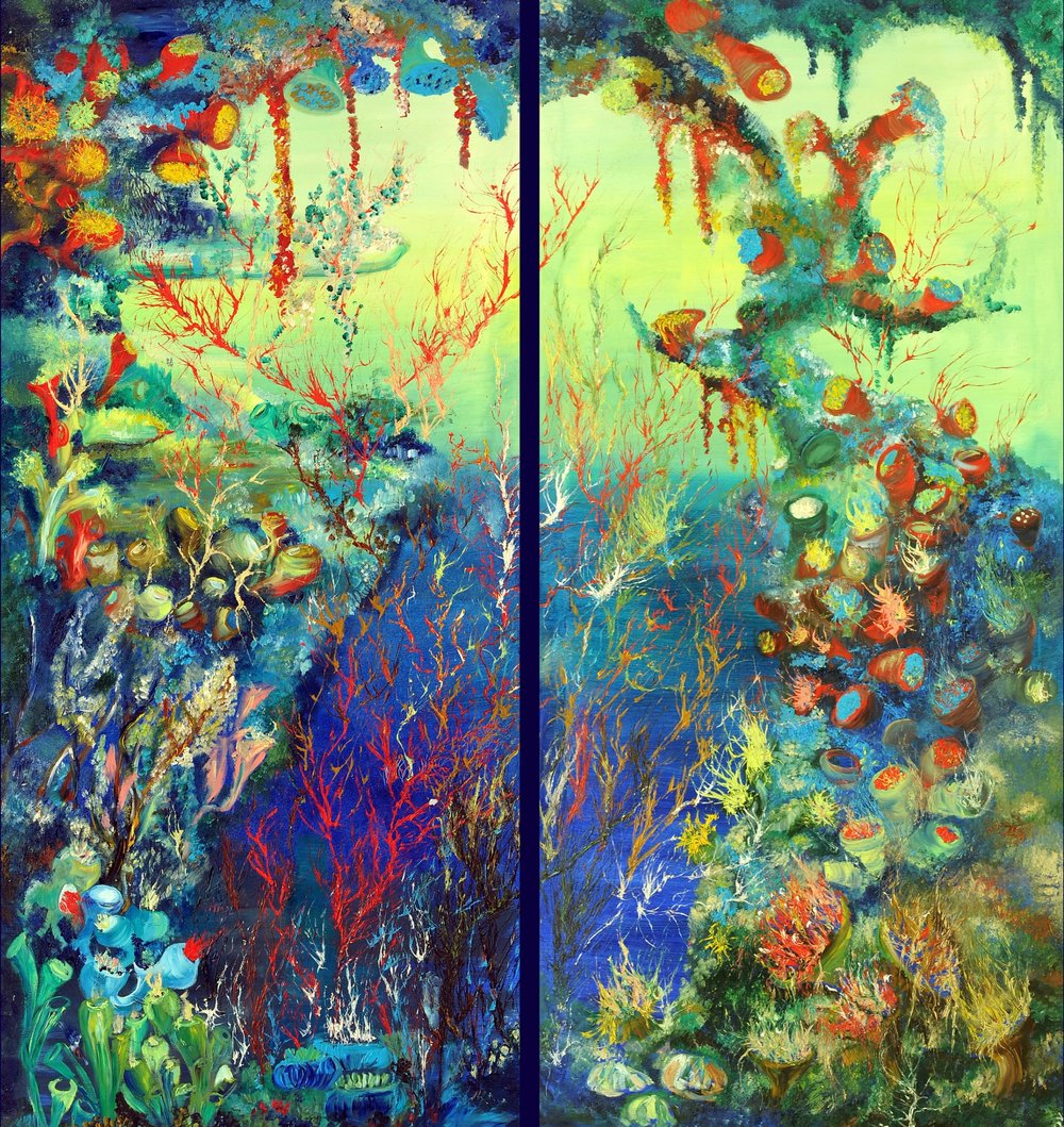 Paradiso.  The Ocean Collection.  2012. Oil on canvas. Two panels. 150 x 70 cm | 150 x 70 cm