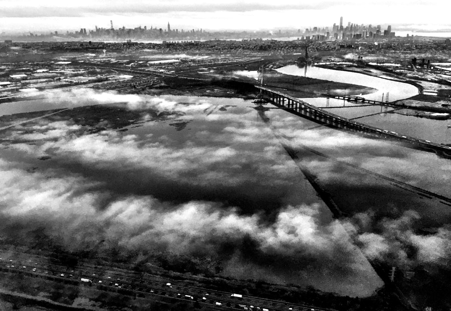 Manhattan on the clouds