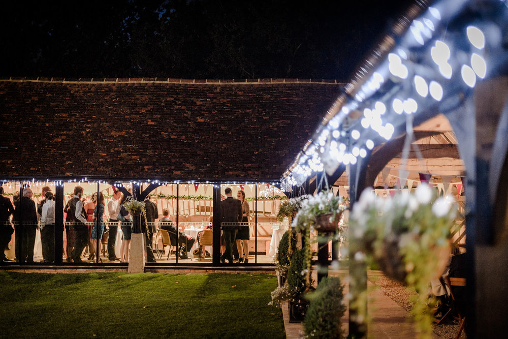 Evening celebration at Lains Barn