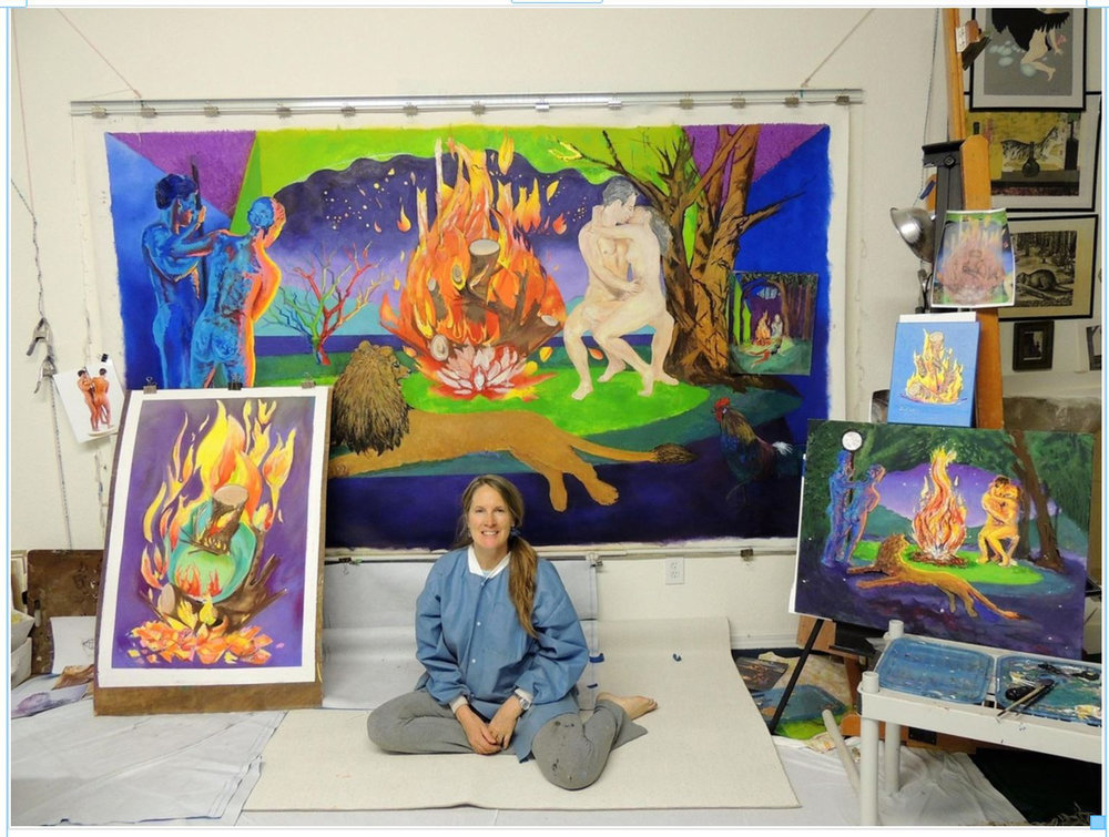 me in studio pastel of fire.jpg