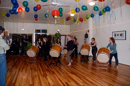Taiko drums for a birthday party!