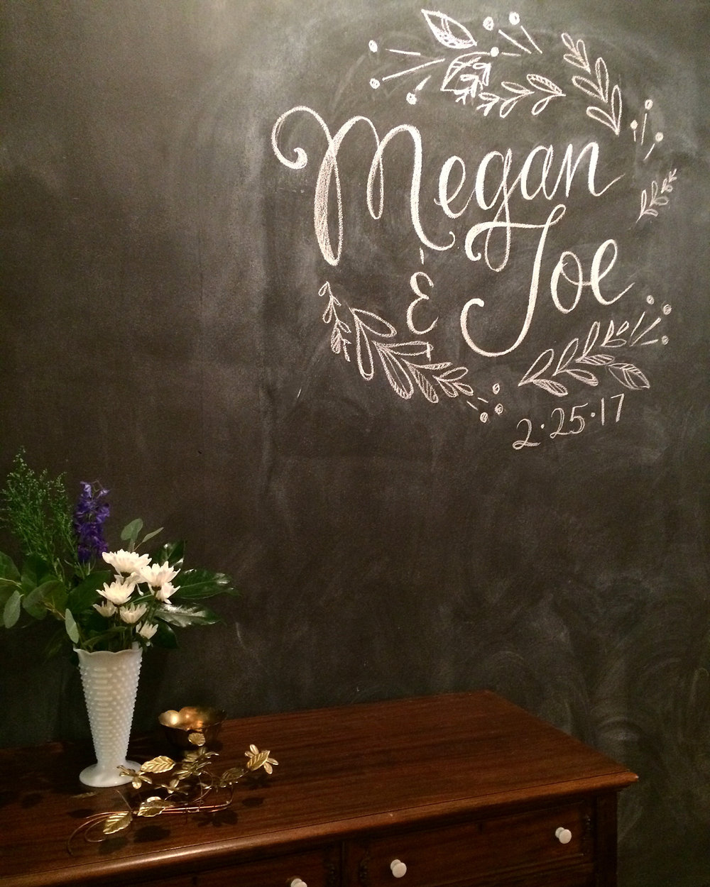 Custom Chalkboard wall