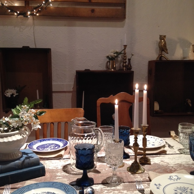 Blue and White table.JPG