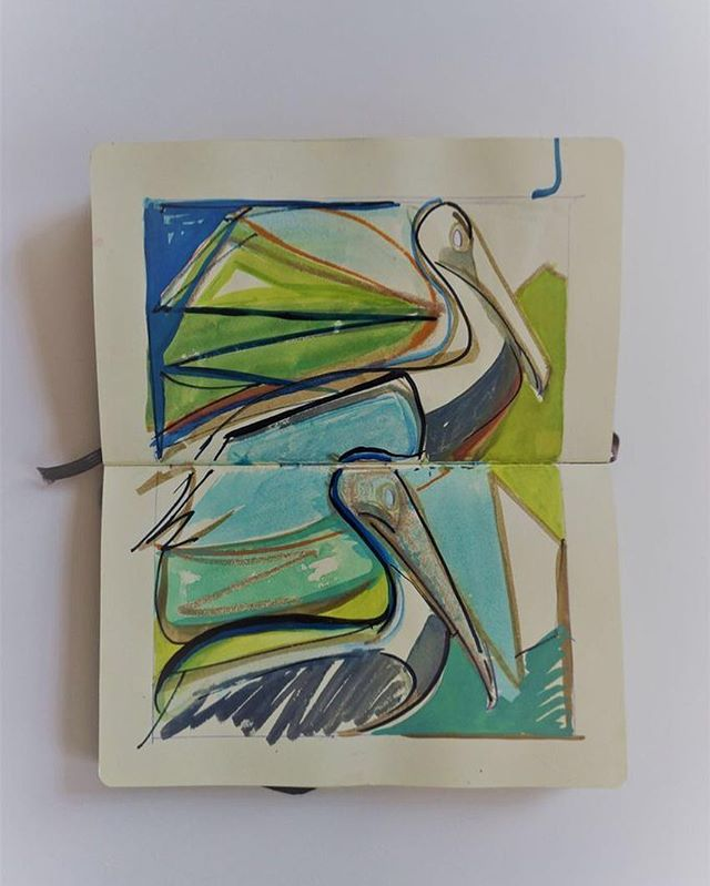 Sketchbook⠀ Pelicans⠀ .⠀ .⠀ .⠀ #art #artist #monoprint #abstract #abstractartist #colour #creative #fineart #gallery #paint 'instaart #creative #artwork #inspiration #artistoninstagram #artlovers #artnews #artoftheday #artreception #artgallery #artstudio #artinfo #contemporaryart #drawing #design #artistsofinstagram