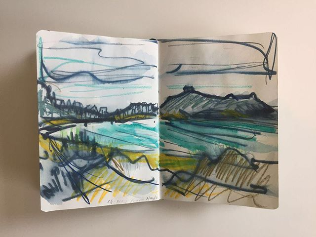Sketchbook⠀ 'St.Ives from Hayle'⠀ #sketchbooks #st.Ives #watercolours⠀ .⠀ .⠀ .⠀ #art #artist #monoprint #abstract #abstractartist #colour #creative #fineart #gallery #paint 'instaart #creative #artwork #inspiration #artistoninstagram #artlovers #artnews #artoftheday #artreception #artgallery #artstudio #artinfo #contemporaryart #drawing #design #artistsofinstagram