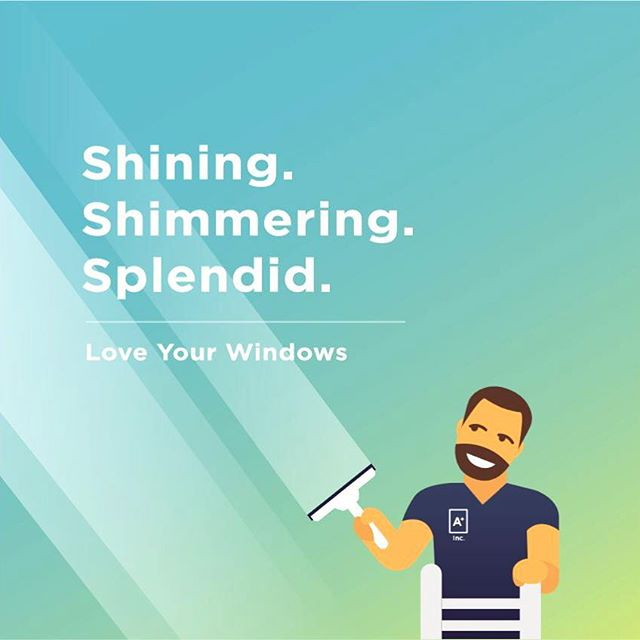 ✨ Shining. Shimmering. Splendid. . ^Try saying that out loud ten times as fast you can 😅 . Its a sneak peak of our stunning new window cleaning flyer, coming soon to a front door near you. 🔜👀 . #aplus #loveyourhome