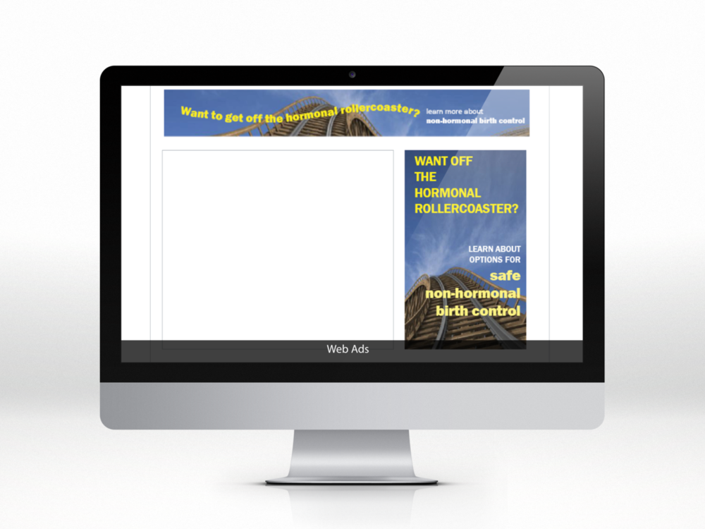 Web ads brought the ad campaign to the digital sphere. -
