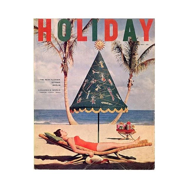 Merry🎄@holidaymagazine 1955 #archiviomadre #bestwishes #travelcommunity #posttourism #gem #xmas #lights #family #love #indiemagazine
