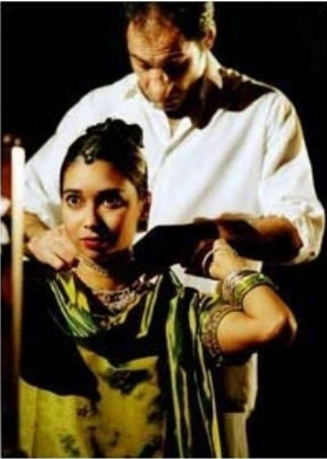 As Emerald in Royal Shakespeare Company production of  'Midnight Children' with Zubin Varla