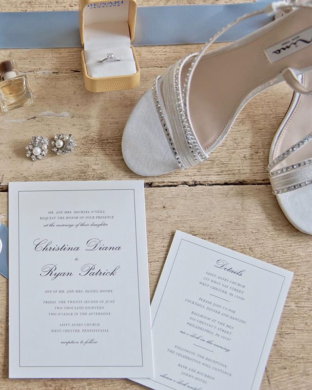This classic and refined invitation suite came together beautifully! ✨#rosemaryandcrown 📷:@versanophotography