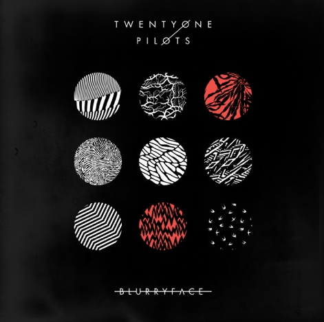 Image result for twenty one pilots blurryface album cover