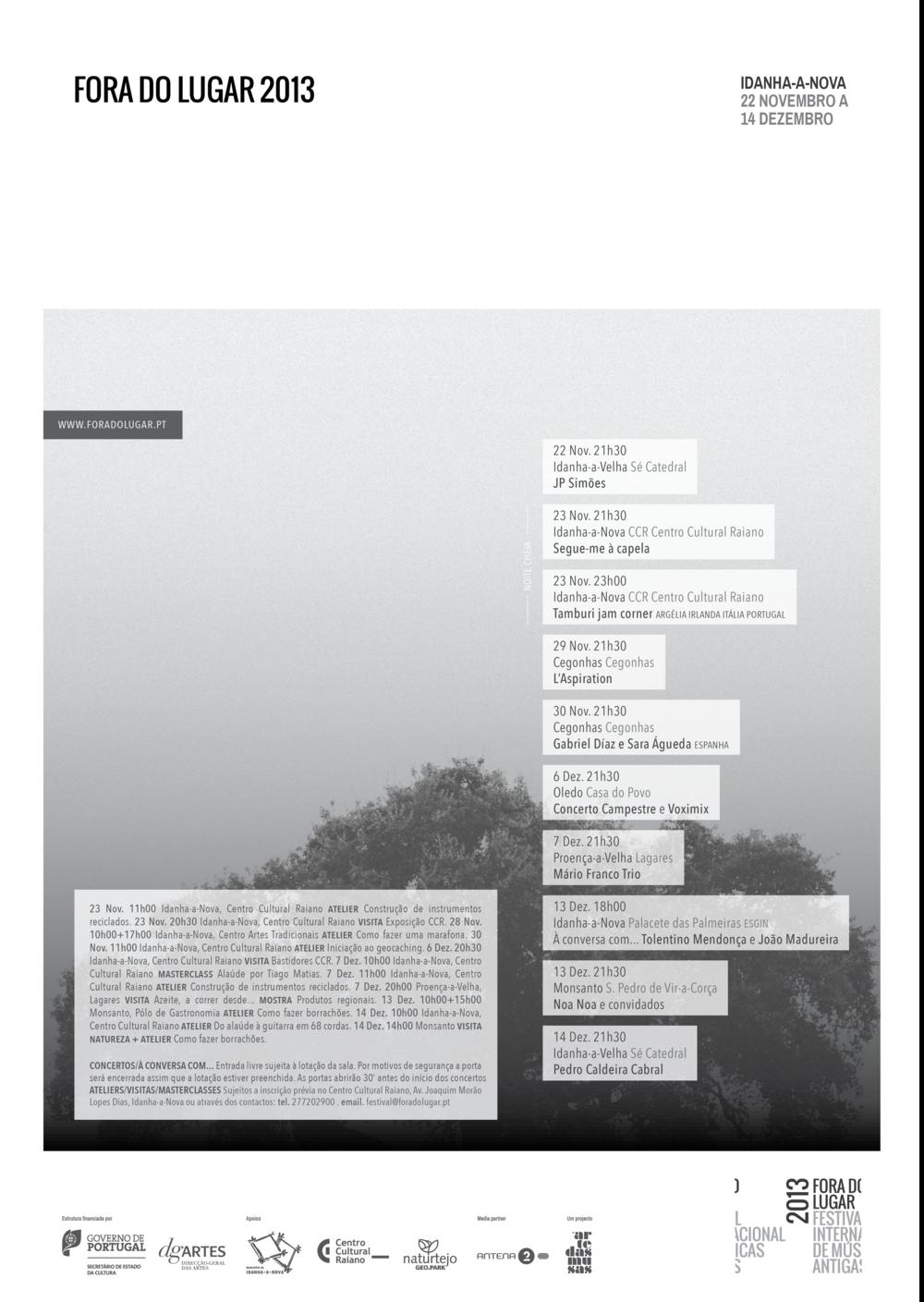 Cartaz Fora do Lugar 2013