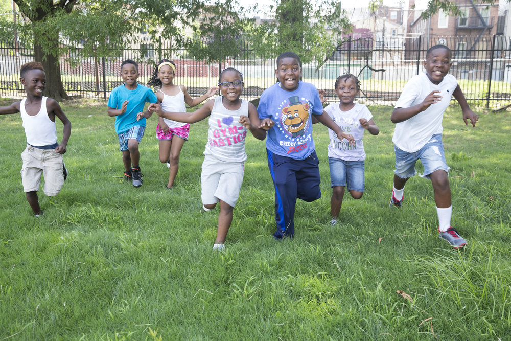 Kids in East Baltimore play