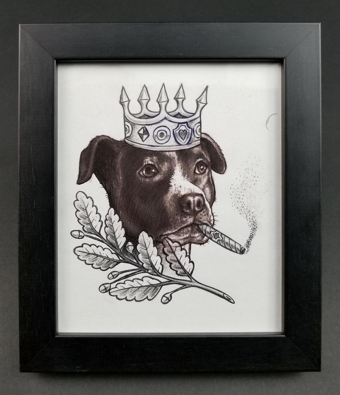 TURF ONE - King Jay Dog (tattoo flash).jpg