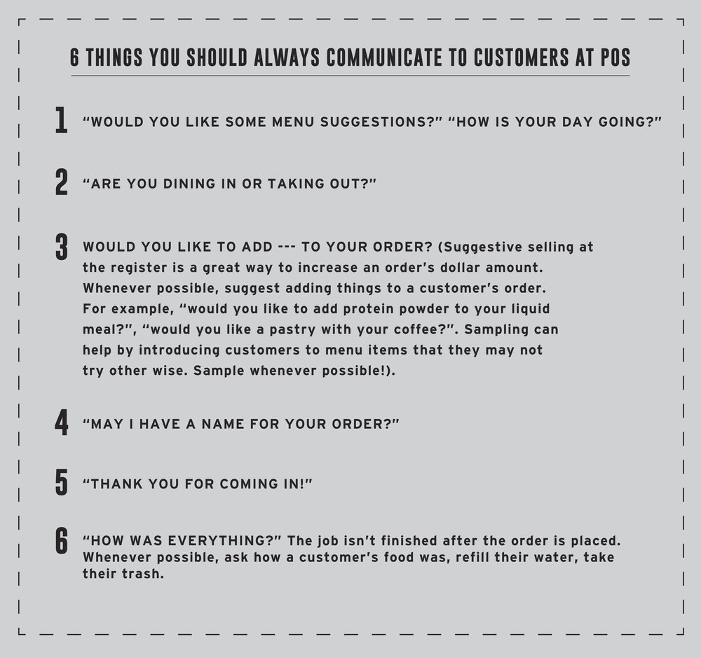 Customer Service - Offering quality customer service is extremely important. Please review these 6 things you should always communicate to customers at POS.