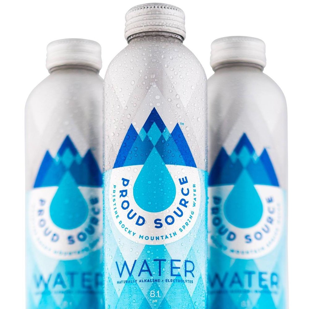 Bottled Water is Here! - We are so excited to share that we are now selling Proud Source Water in our DC store and they will be available in the rest of our stores by this weekend.Here are a few key points we'd like you to memorize:1. Rocky mountain spring water bottled in the US2. No additives - naturally alkaline pH at 8.1 with low filtering & a high mineral content3. Easily recycled aluminum bottlesClick here to learn more about Proud Source Water