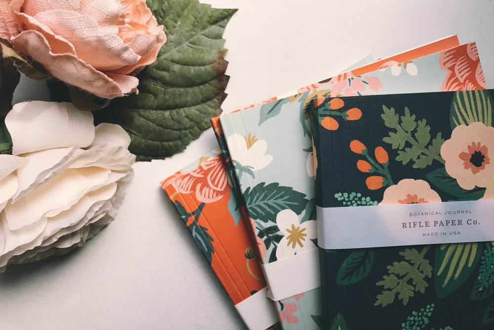 rifle paper co notebooks at the qg