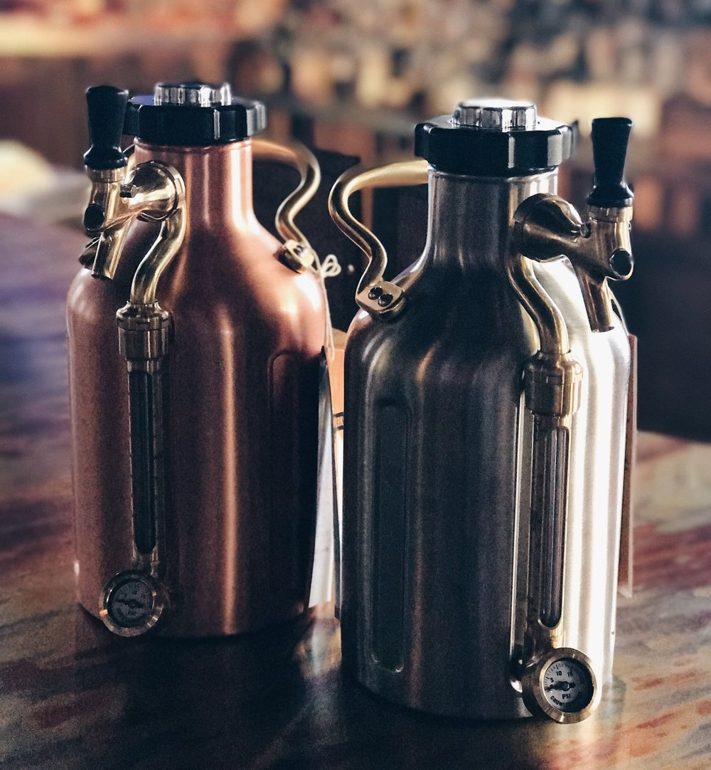 The Ukeg comes in copper, and stainless steel.