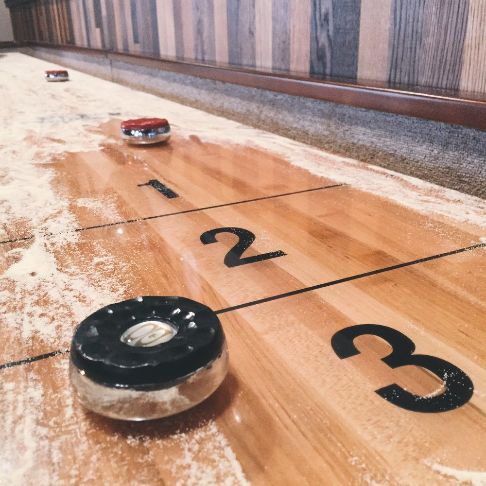 shuffleboard at the qg