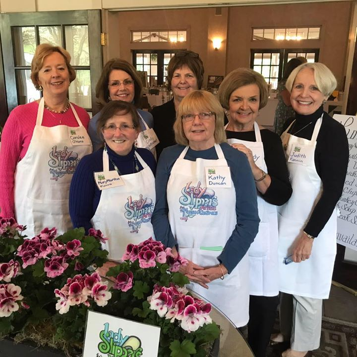 Front Row: Mary Martha Koos, Kathy Duncan Back Row:  Carolee O'Hara, Cindy Hoffrichter, Betsy Miller, Sandy Votaw, Judy Fannin