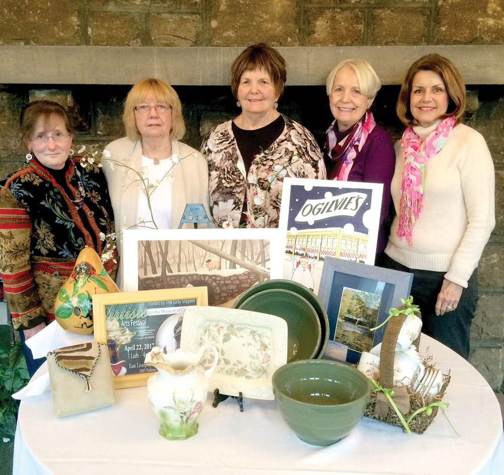 The Lady Slippers display some of the artisan wares from last year. Mark your calendar for an even bigger and better Arts Festival this Fall! It's September 29 at the East Liverpool Country Club. Proceeds benefit the Museum of Ceramics.
