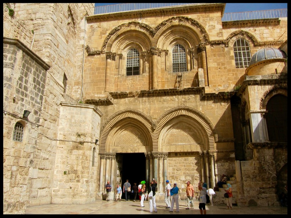 Entrance to the Church of the Holy Sepulcher - Jerusale