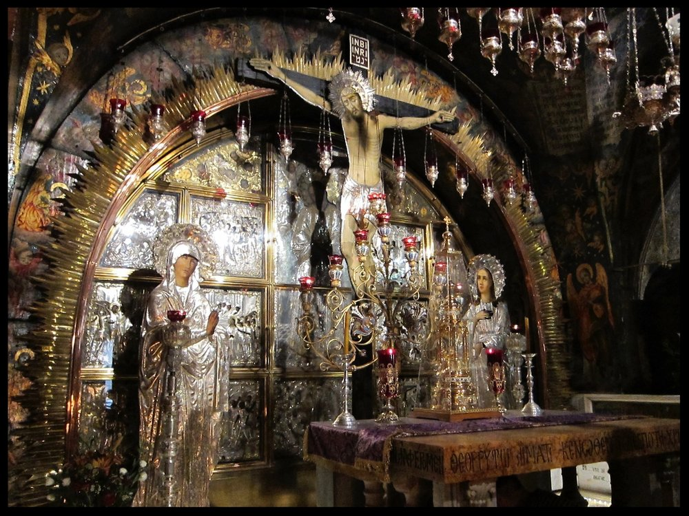 The Greek Altar at Golgotha in the Church of the Holy Sepulcher