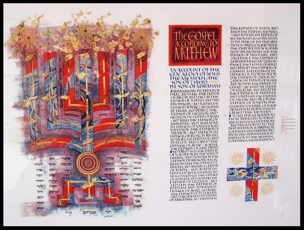The Saint John's Bible - The beginning of the Gospel of Matthew