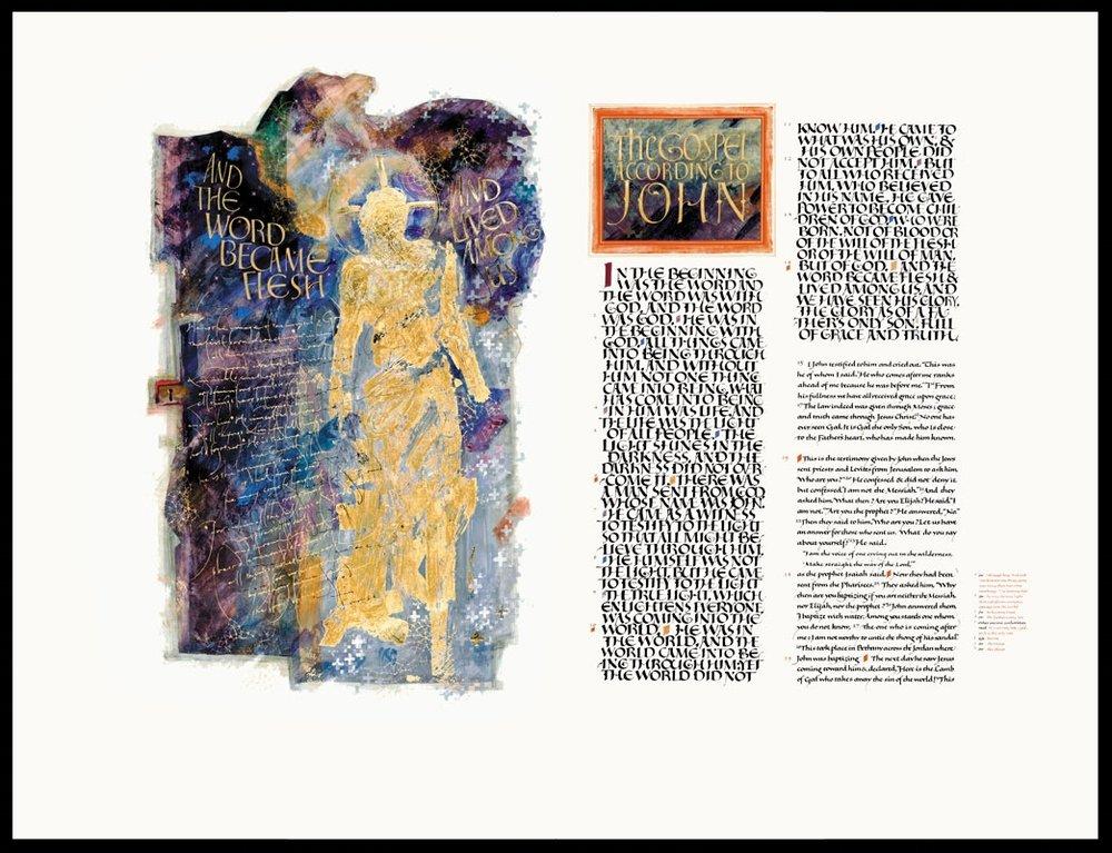 The Saint John's Bible - the beginning of the Gospel of John