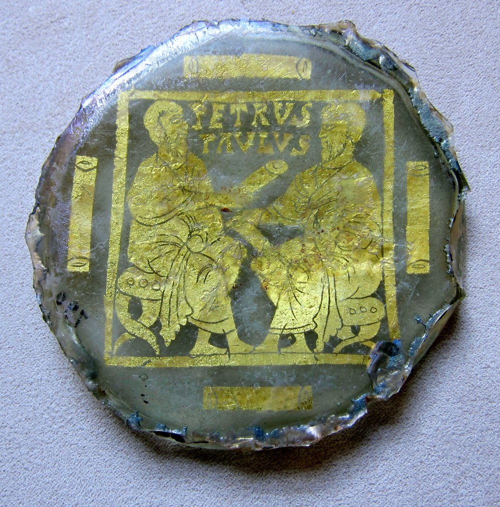 Glass and Gold leaf image of Sts. Peter & Paul - 4th cent. - Vatican Museum