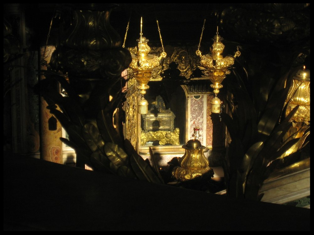 The remains of St. Peter in the Confessio beneath the High Altar in St. Peter's Basilica