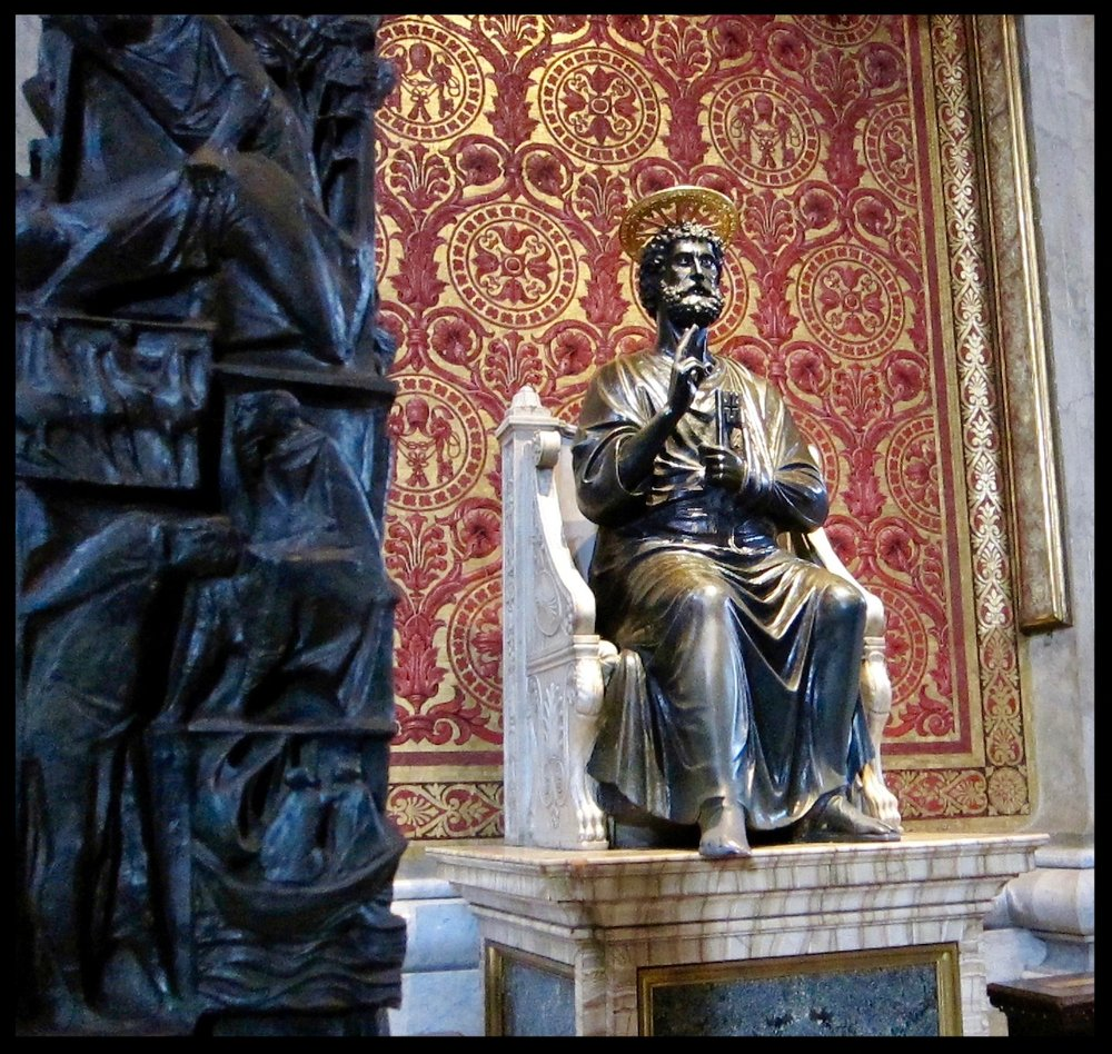 Statue of St. Peter - 5th cent. - St. Peter's Basilica