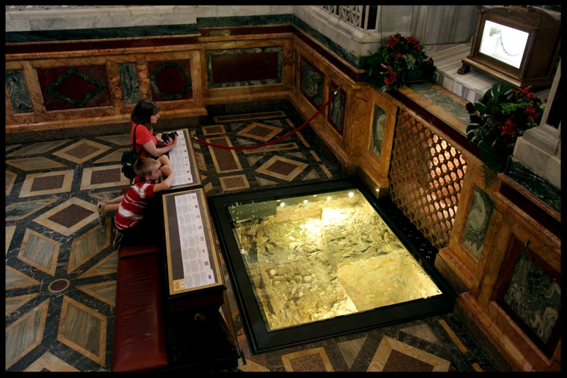 Tomb of St. Paul, Apostle to the Gentiles, in the Basilica of St. Paul outside the Walls