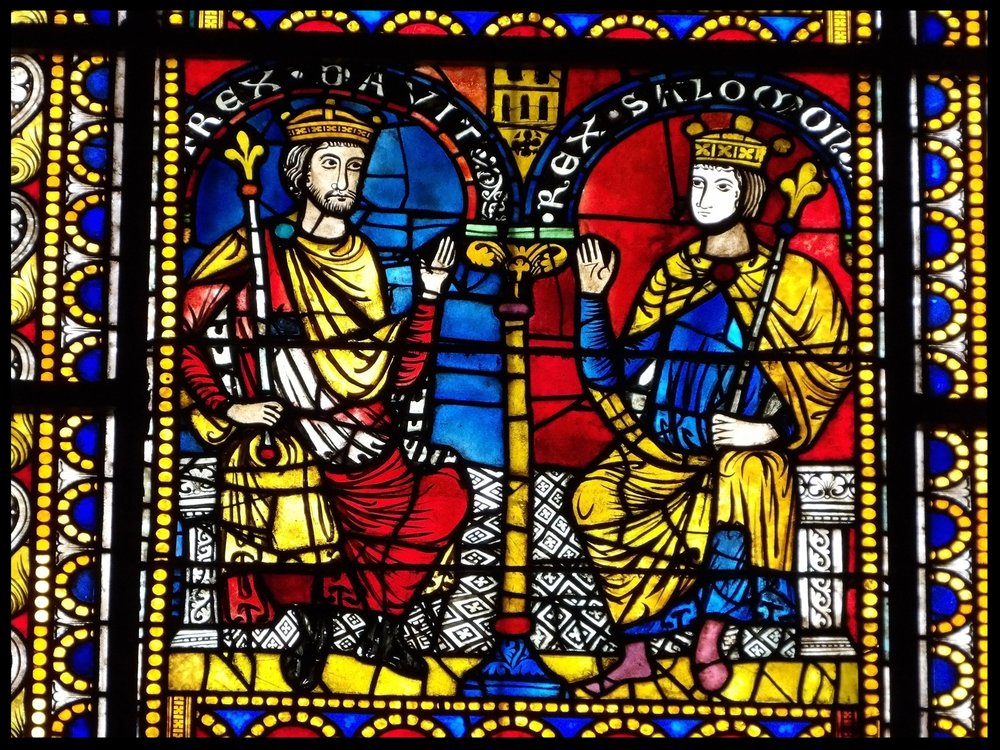 King David and Solomon - Strasbourg Cathedral