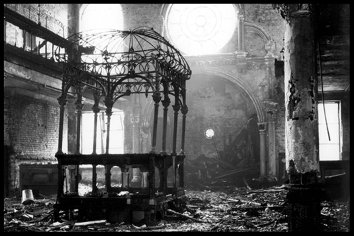 Destroyed Synagogue on Kristallnacht