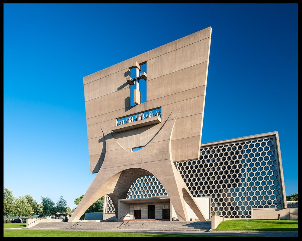 St. John's Abbey Church by Marcel Breuer