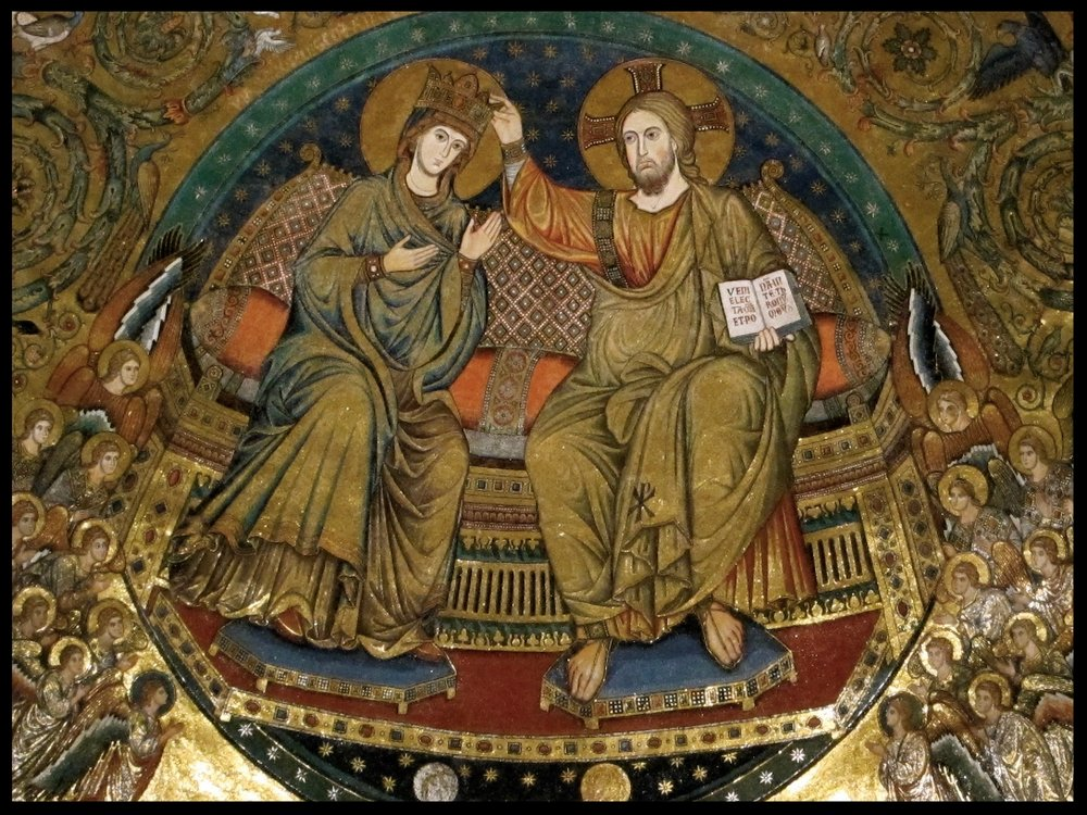 Apsal mosaic of Christ and Mary, Queen of Heaven - St. Mary Major - Rome