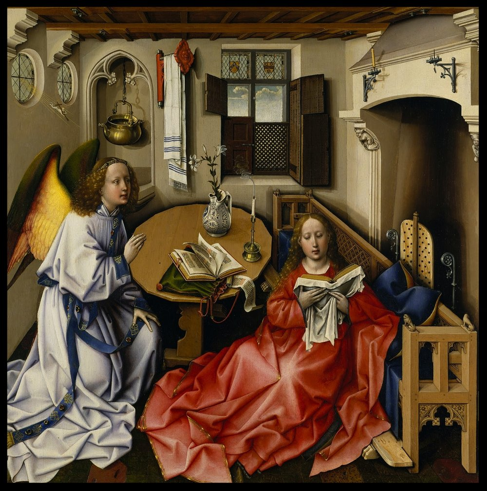 The Annunciation Triptych - Robert Campin - 1375-1444