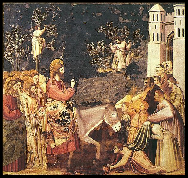 Entry into Jerusalem - Giotto - 14th cent.