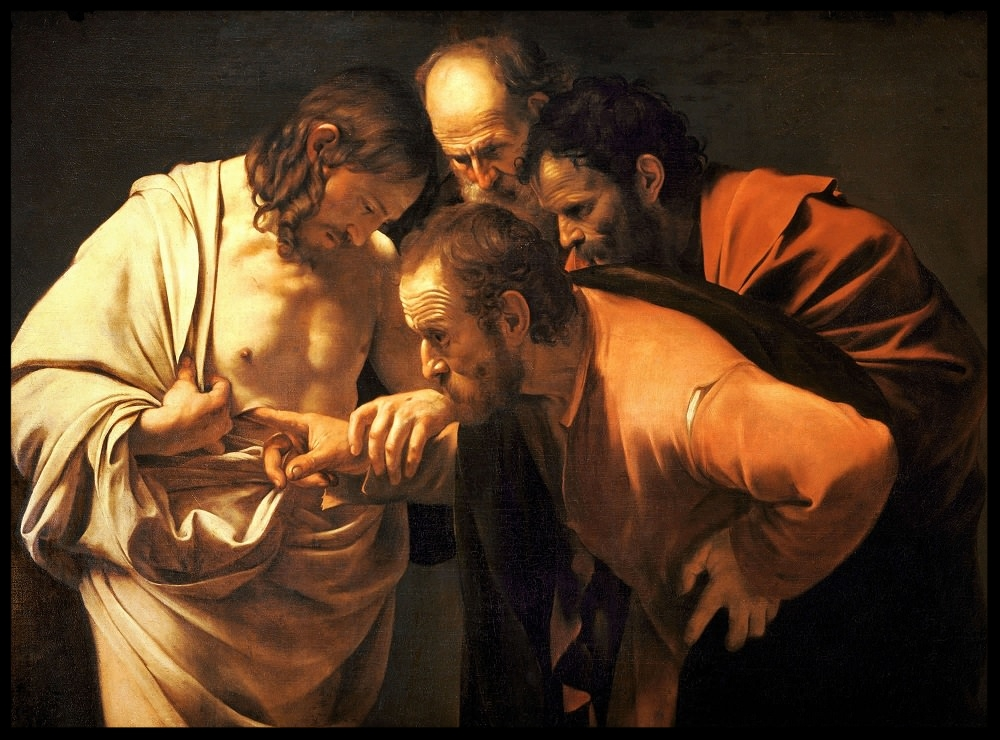 Incredulity of Saint Thomas - Michelangelo Merisi da Caravaggio - 1571-1610