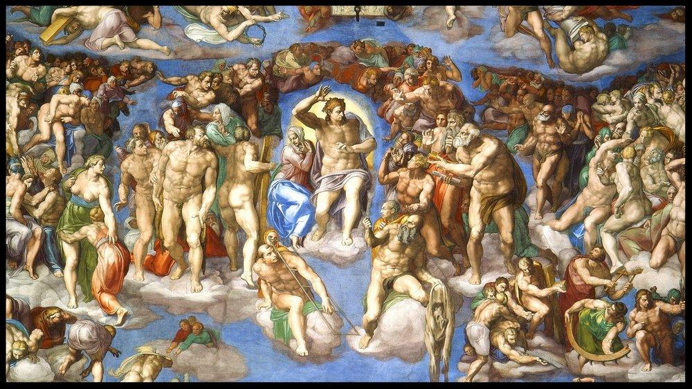 The Last Judgment - Michelangelo - Sistine Chapel