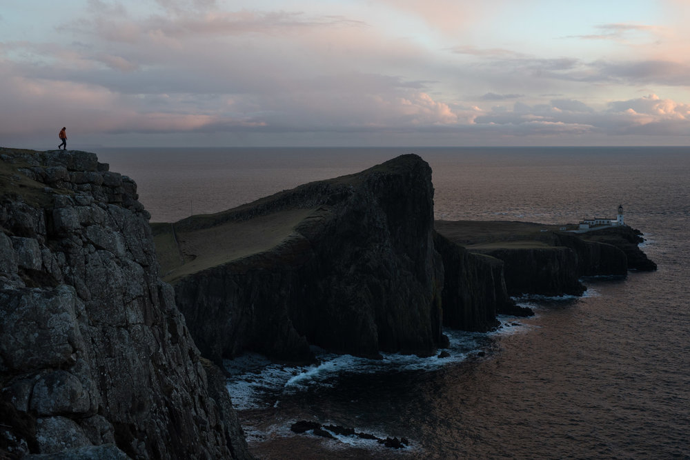 The beautiful cliffs surrounding the lighthouse at the westernmost point of Skye.