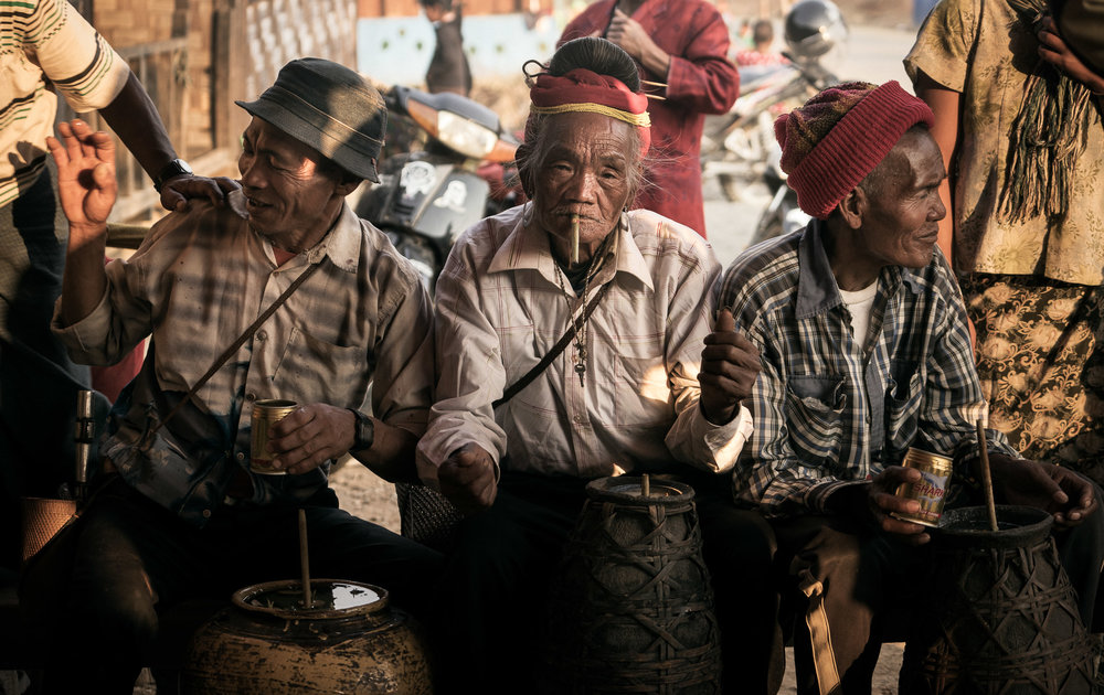three old men in myanmar