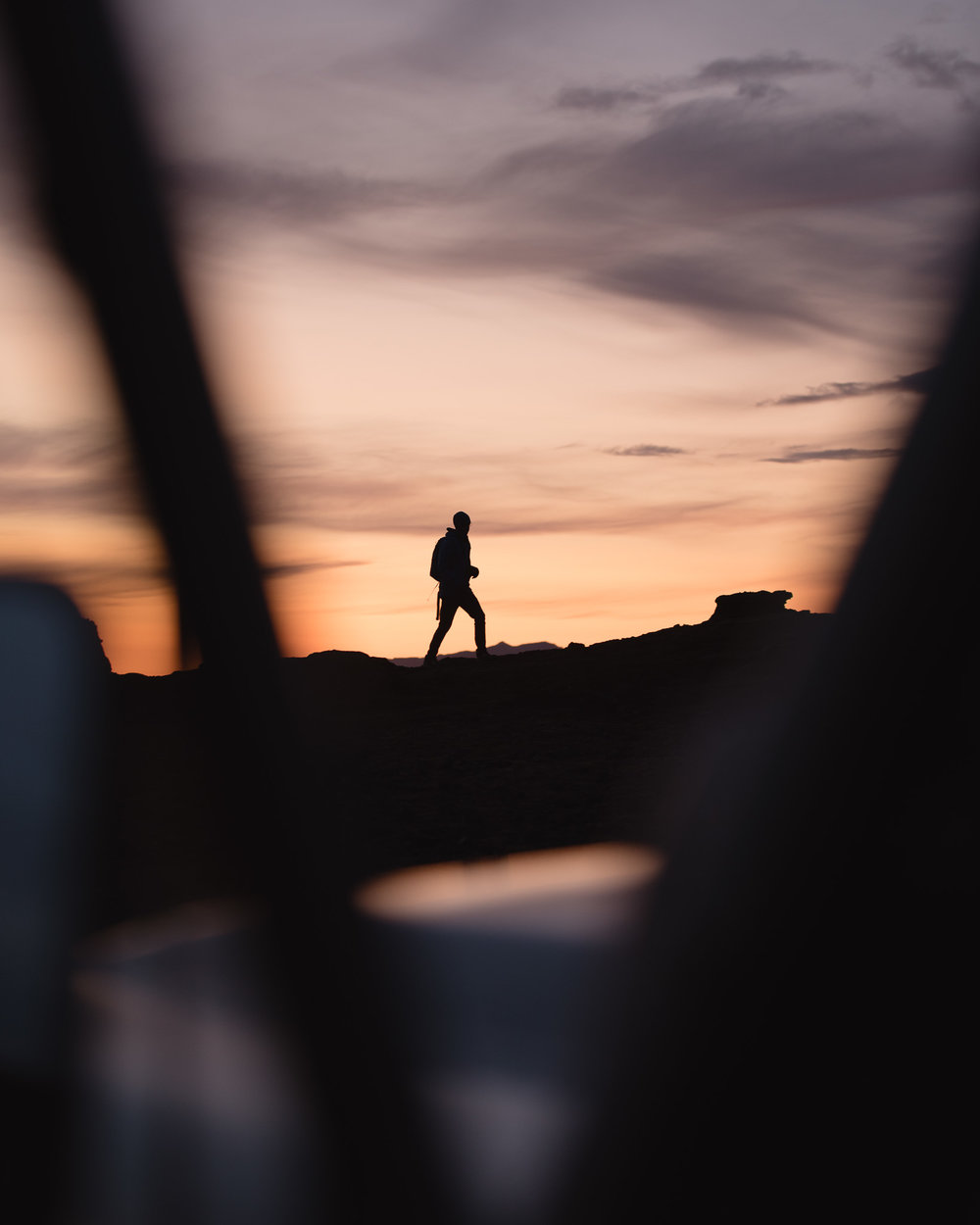 man during sunset