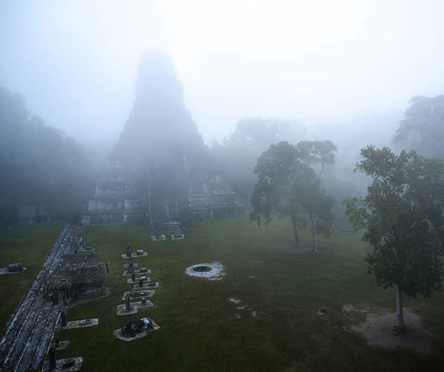 A special morning in a special place! Thanks to my guide Gerbert we had access to the archeological site Tikal waaaay before sunrise. Seeing the fog surround the temples while we followed the trail just lit by moonlight was just amazing 😊 Gerbert explained a lot about Mayan culture and religion while we walked here and the place just came to life. Recommended! - - - #nikonnl #visitguatemala #archeology #maya #tikal #fullmoon